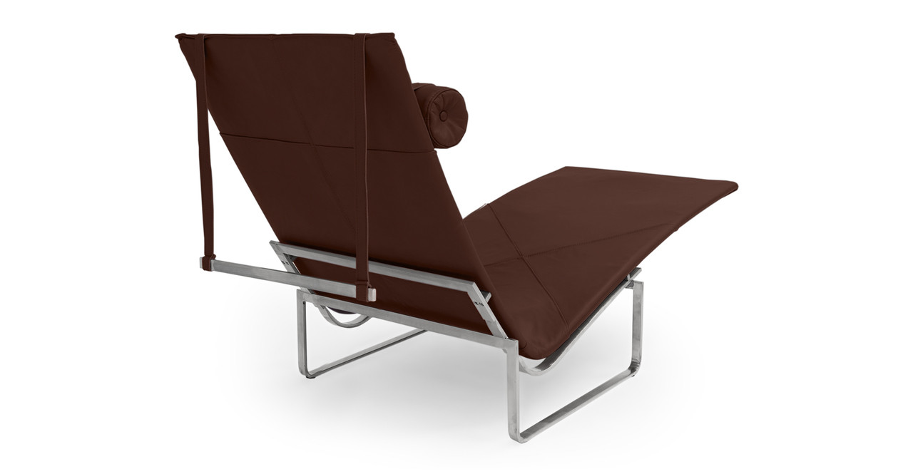 Pk24 lounge chair coco brown premium leather clearance for Chaise lounge clearance