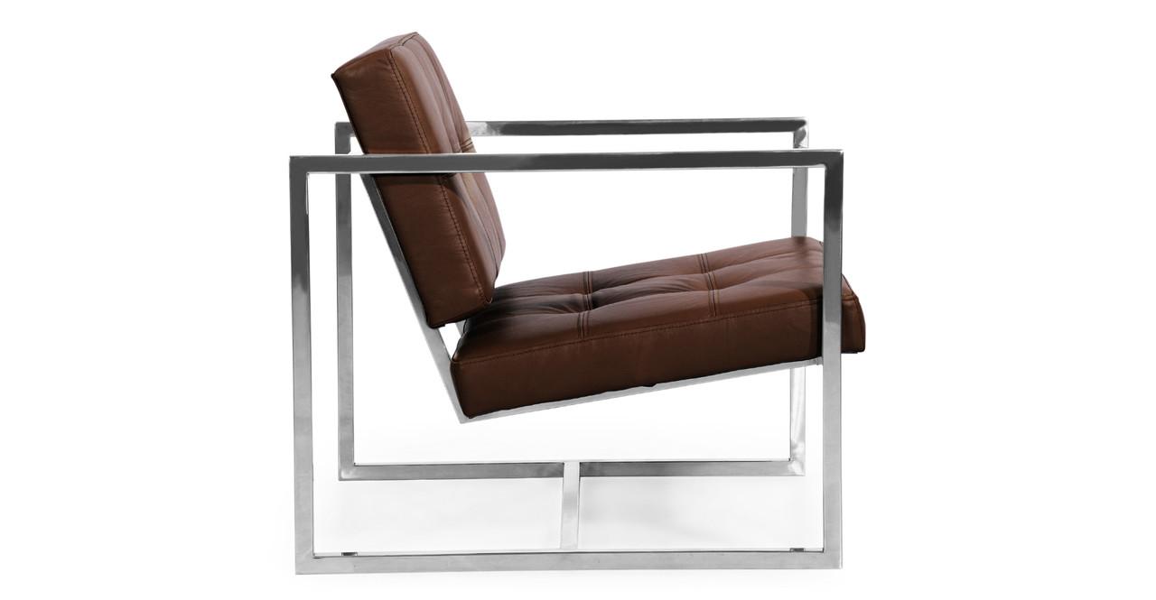 cube chair coco brown