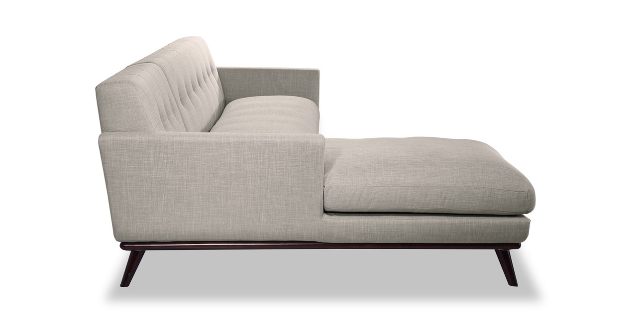 Jackie sofa sectional left dove grey kardiel for Dove grey sectional sofa