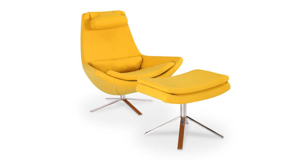 Retropolitan Chair amp Ottoman Sunrise Kardiel