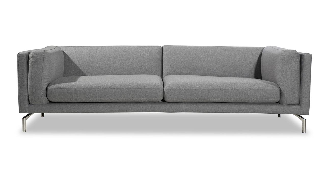 Stupendous Basil Loft 91 Fabric Sofa Cadet Grey Squirreltailoven Fun Painted Chair Ideas Images Squirreltailovenorg