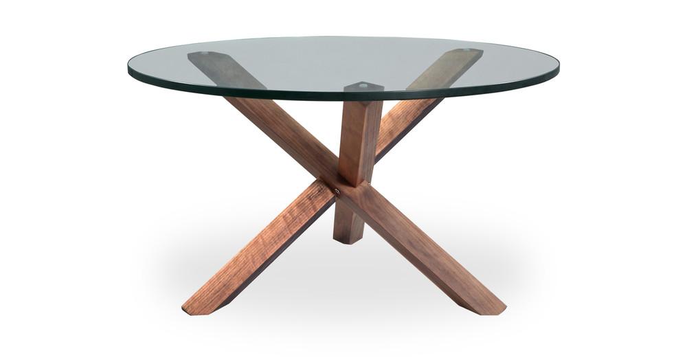Perfect Tripod Coffee Table Walnut   Kardiel