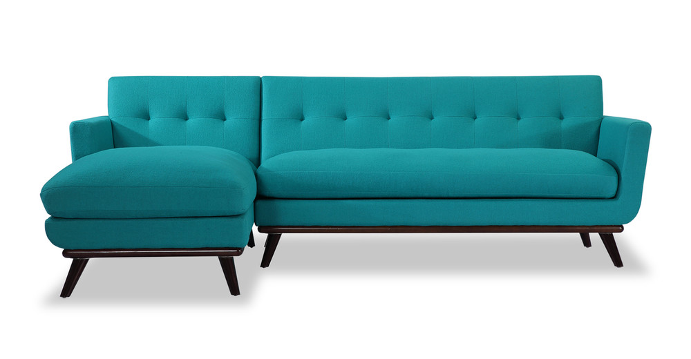 Jackie Sofa Sectional Left, Turquoise - Kardiel