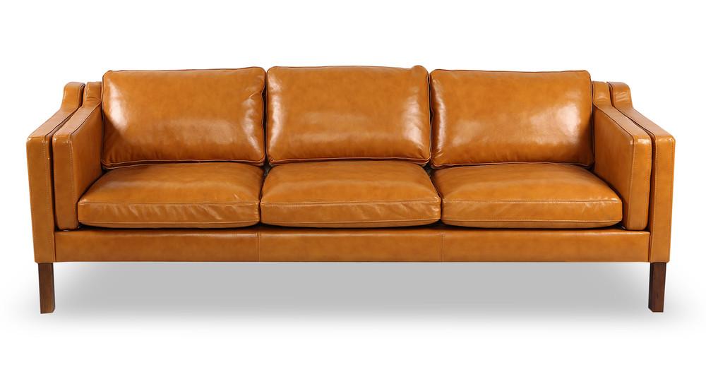 Monroe Sofa, Tan Aniline Leather - Kardiel