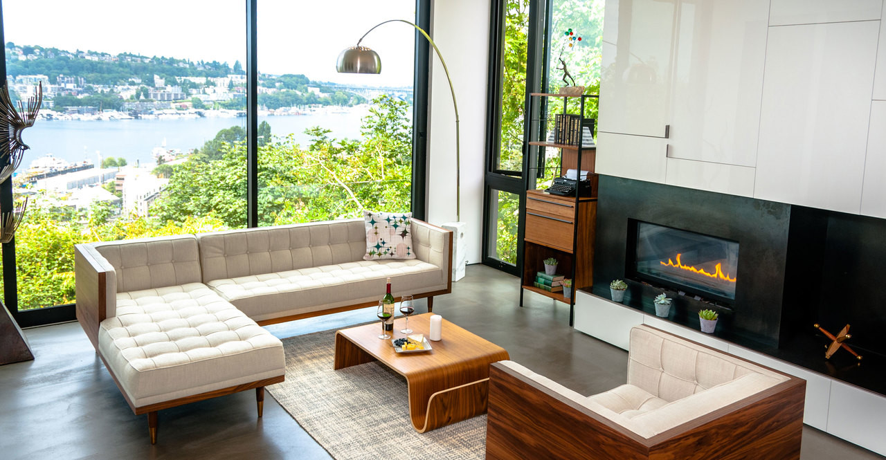 seattle modern home with woodrow box sofa