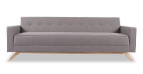 Bauhaus Modern Sofa, Haze Pewter