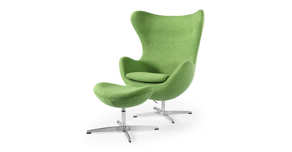 amoeba chair ottoman apple green kardiel. Black Bedroom Furniture Sets. Home Design Ideas