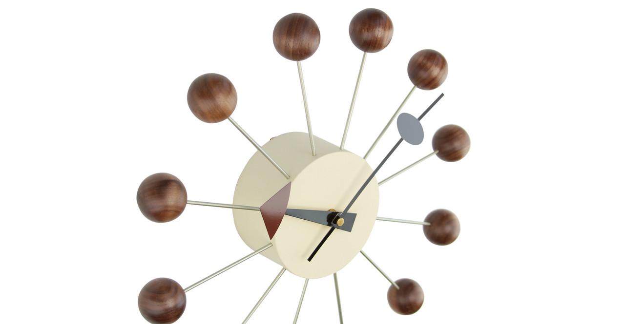 nelson ball clock walnut