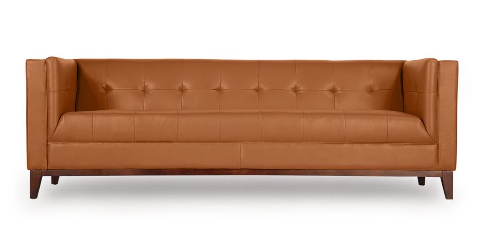 ... Saddle Brown Premium Leather. Harrison Sofa