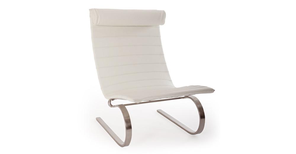 PK20 Chair Arctic White Premium Leather Kardiel