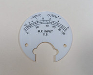 Collins 51S-1 Receiver WHITE Bartlett Meter face to Replace the Amber Color One