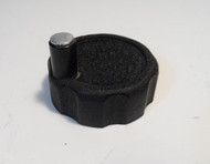 Spinner Knob 2 inch Diameter, with Black Crinkle finish  for 1/4 inch Shaft