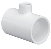 "1-1/2""X1-1/2""x3/4"" PVC Reducing Tee Slip Sch 40 (PF 401-210)"
