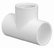 "1-1/4"" PVC Tee Slip x Slip x Fpt Sch 40 (PF 402-012)"