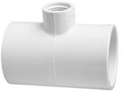"1-1/2""X1-1/2""x1"" PVC Reducing Tee Slip x Slip x Fpt Sch 40 (PF 402-211)"