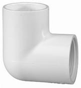 """1"""" PVC 90° Ell Slip x FPT Sch 40 (PF 407-010)"""