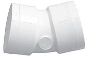 """4"""" PVC 22-1/2° Ell Slip Sch 40 (PF 416-040)"""