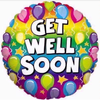Get Well Soon Rainbow 18 Inch Foil Balloon