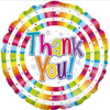 Thank You Holographic 18 Inch Foil Balloon