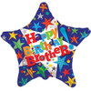 Happy Birthday Brother 18 Inch Foil Balloon