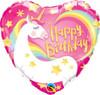 Happy Birthday Magical Unicorn 18 Inch Foil Balloon