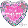 Valentines Shimmer Hearts 18 Foil Balloon