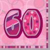 60th Birthday Pink Glitz Napkins