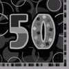 50th Birthday Black Glitz Napkins