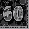 60th Birthday Black Glitz Napkins