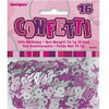 16th Birthday Pink Glitz Foil Confetti