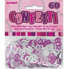 60th Birthday Pink Glitz Foil Confetti