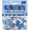 30th Birthday Blue Glitz Foil Confetti