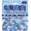 40th Birthday Blue Glitz Foil Confetti