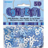 50th Birthday Blue Glitz Foil Confetti