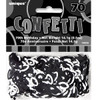 70th Birthday Black Glitz Foil Confetti