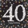 40th Birthday Gold Sparkles Napkins