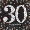 30th Birthday Gold Sparkles Napkins