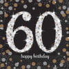 60th Birthday Gold Sparkles Napkins