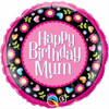 "Birthday Mum Pink & Floral 18"" Foil"