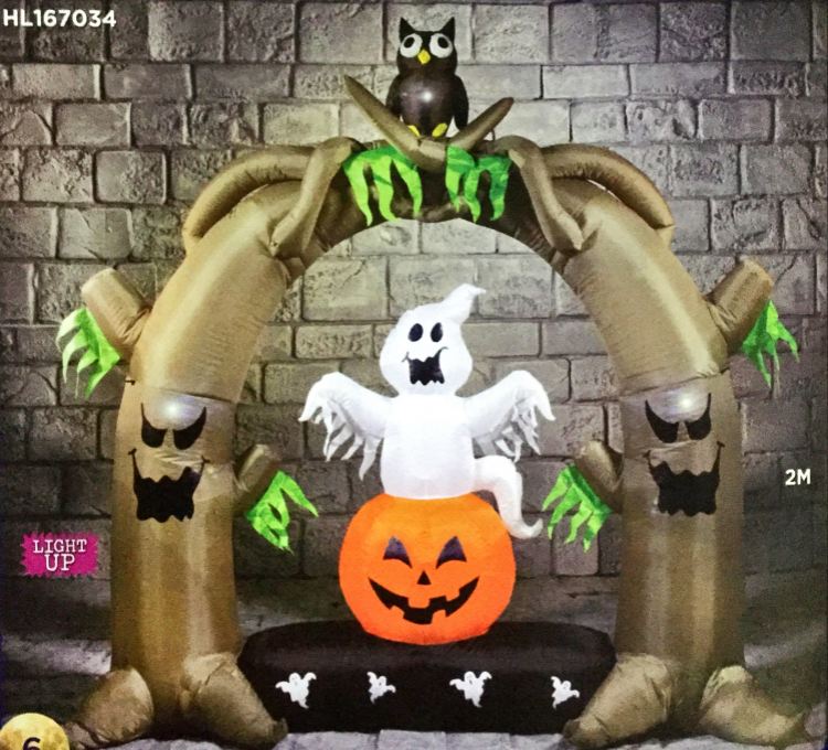 Halloween 2m Arch With Owl Hire
