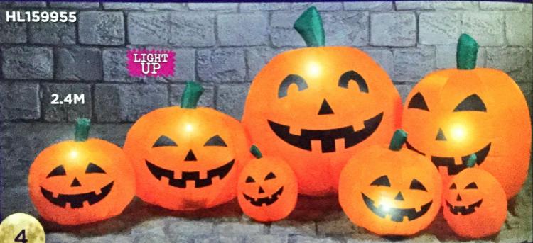 Halloween 2.4m Stacked Pumpkins Hire