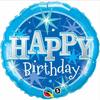 Birthday Blue Sparkle 18 Inch Foil Balloon