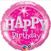 Birthday Pink Sparkle 18 Inch Foil Balloon