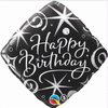 Birthday Elegant Sparkles & Swirls 18 Inch Foil Balloon