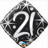 21st Birthday Elegant Sparkles & Swirls 18 Inch Foil Balloon