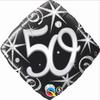 50th Birthday Elegant Sparkles & Swirls 18 Inch Foil Balloon