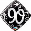 90th Birthday Elegant Sparkles & Swirls 18 Inch Foil Balloon