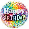 Happy Birthday Rainbow Confetti 18 Inch Foil Balloon