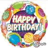 Happy Birthday Holographic Big Dots & Gltiz 18 Inch Foil Balloon