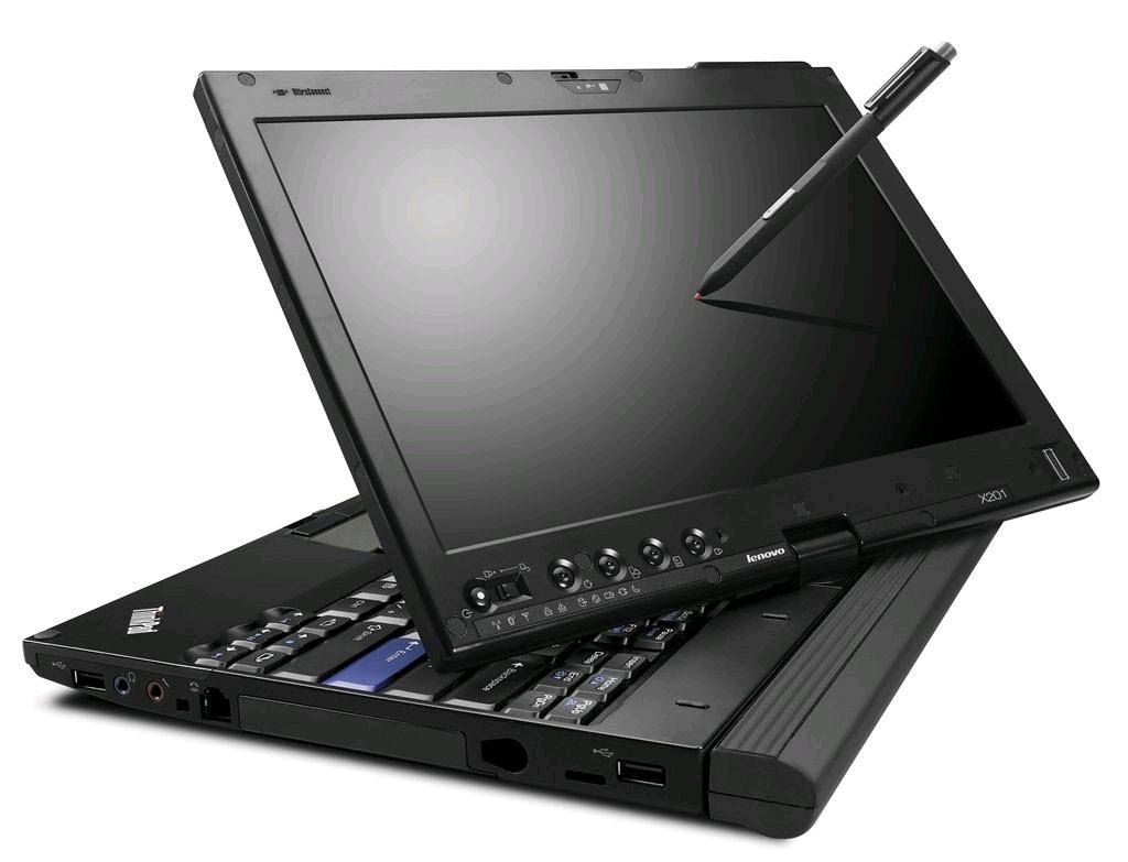 Lenovo Thinkpad X220 tablet - front view with stylus
